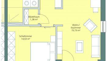 2-Zimmerwohnung Neubau Das Gelbe Haus