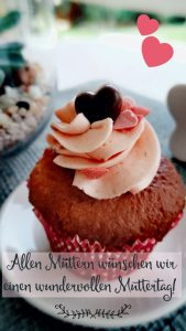 Mutterliebe Muffins ERdbeeren Muttertag